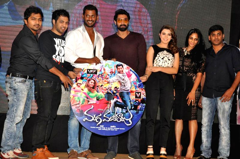 Vishal, Hansika acted Maga Maharaju film audio release function held at N Convention Centre.