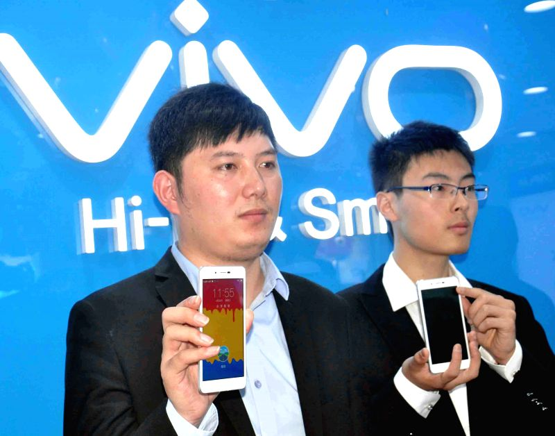 Vivo India general manager Tracy Chen at the launch of Vivo phones in Hyderabad, on April 29, 2015.