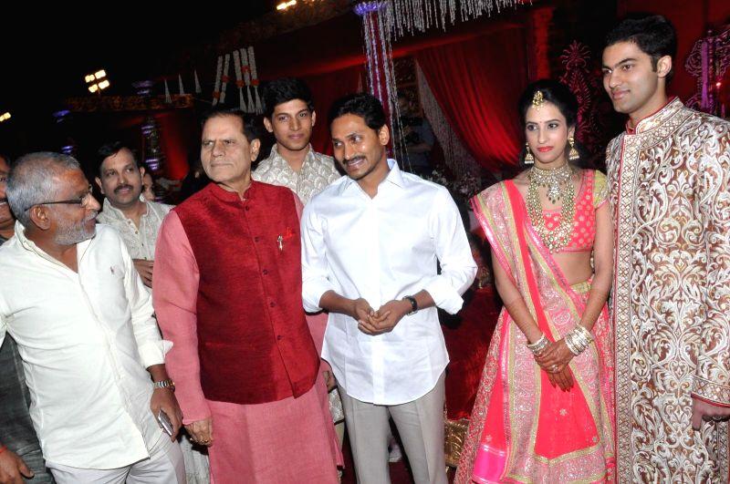YS Jagan during Subbarami Reddy`s grand Son Rajiv marriage.