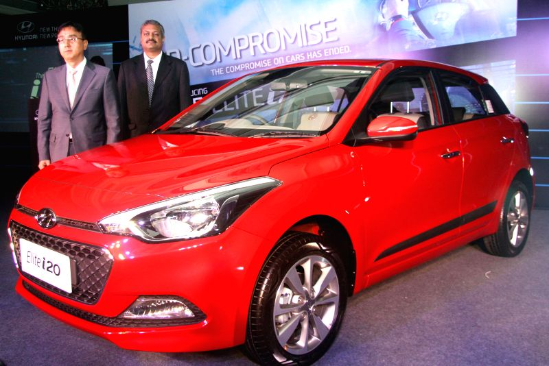 Hyundai Chief Coordinator Sales and Marketing Young Jin Ahn during the launch of `Elite i20` in Bangalore on Aug 12, 2014.