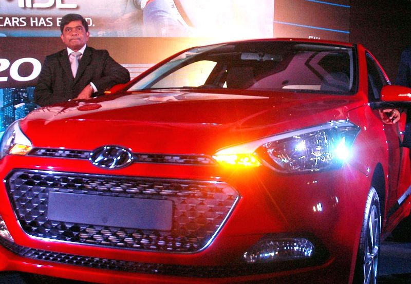 Hyundai Motor India Ltd., Senior Vice President (Sales & Marketing) Rakesh Srivastava launches 'Elite i20' in Kolkata on Aug 14, 2014.