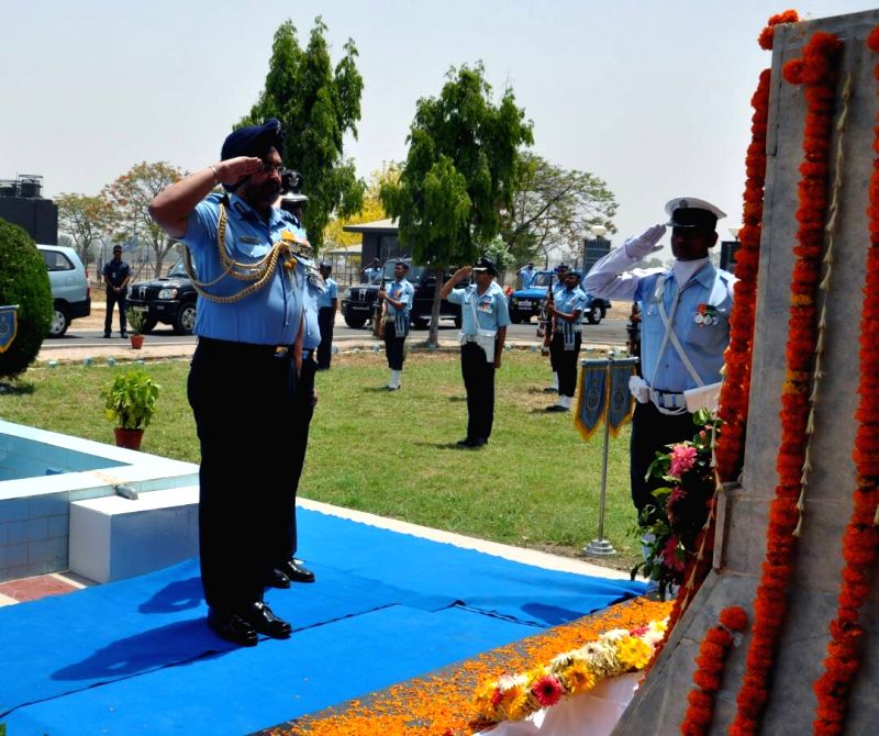 IAF chief B.S. Dhanoa pays tribute to  Kargil martyrs in Bhisiana of Punjab's Bhatinda  on May 27, 2017.
