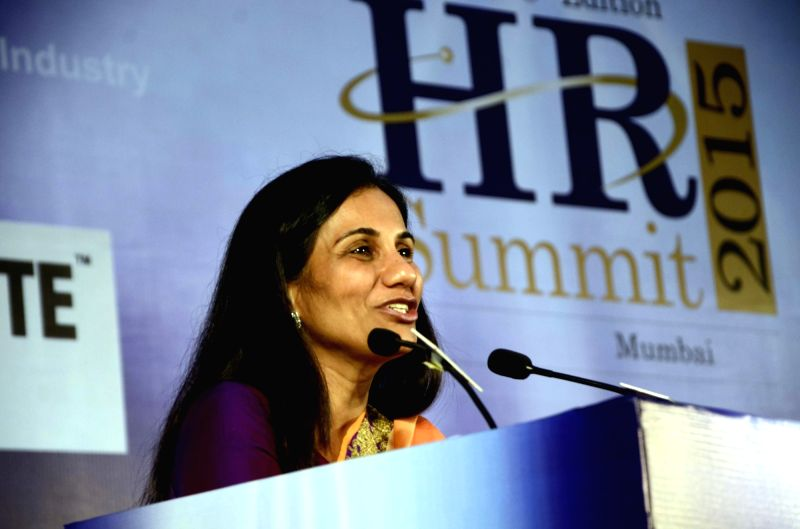 ICICI Bank chief Chanda Kochhar addresses during the launch of a App `Travel Safe` in Mumbai, on Nov 2, 2015.