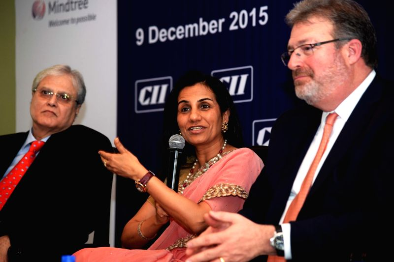 ICICI Bank chief Chanda Kochhar addresses during a CII programme in Mumbai, on Dec 9, 2015.
