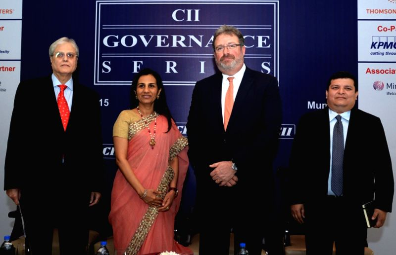 ICICI Bank chief Chanda Kochhar, Thomson Reuters President and CEO Jim Smith, CII (National Committee on Financial Markets) Chairman  Nimesh Kampani and KPMG Partner (Risk Consulting) ...