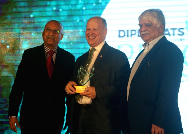 IIPT India President Ajay Prakash, US Embassy Minister-Counselor for Consular Affairs Joseph M Pomper and Travel Biz Monitor and Adfactors PR MD Madan Bahal during the 'Diplomats for ... - P