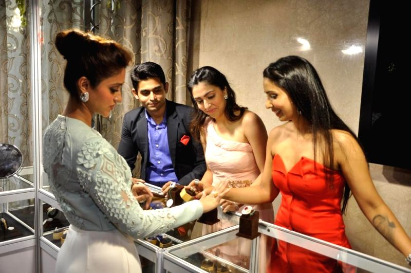 Ileana D`Cruz during the High Tea Jewellery Preview in Mumbai on July 5, 2014.