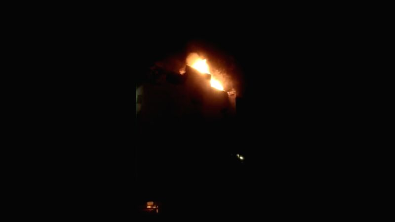 Imphal: A massive fire breaks out at Hotel Arpit Palace in Karol Bagh killing seventeen people, including a child and injuring three others in New Delhi on Feb 12, 2019.