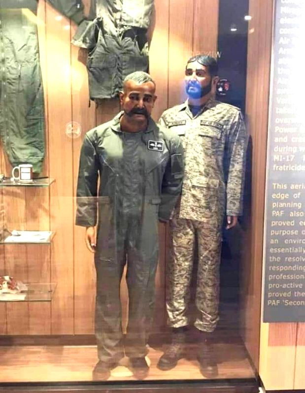 In a bizarre propaganda, Pakistan has put on display a mannequin of Indian pilot Abhinandan Varthaman whose plane was shot down over Kashmir earlier this year.