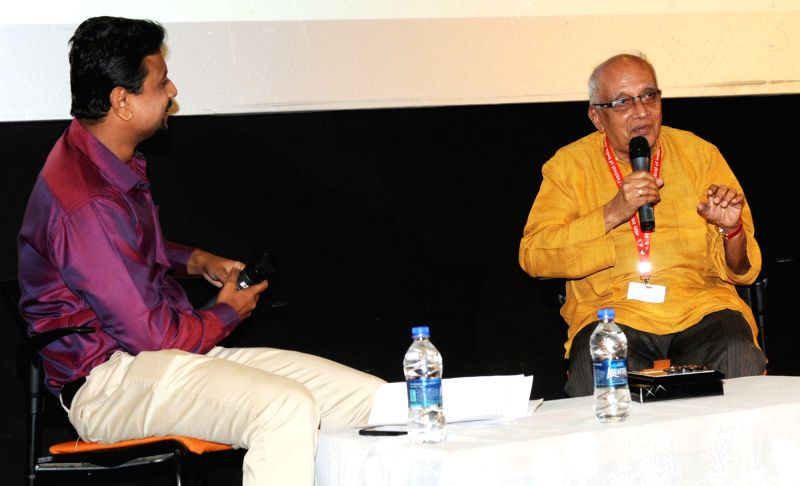In conversation with Director Singeetam Srinivasa Rao at the 46th International Film Festival of India (IFFI-2015), in Panaji, Goa on Nov 25, 2015.