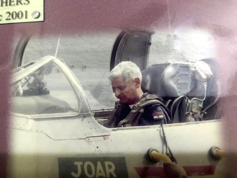 In the cockpit of a MiG-21 combat jet.