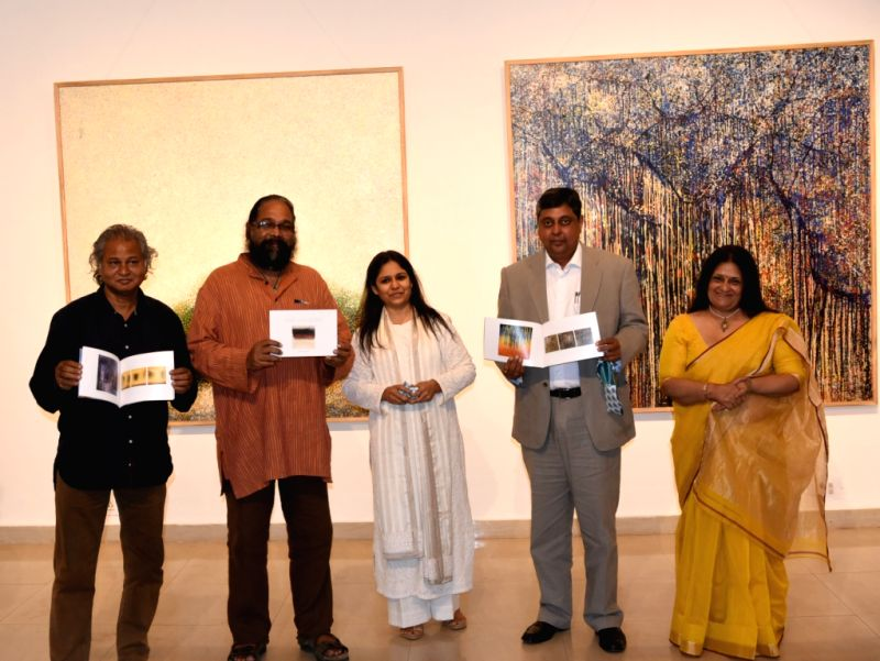 Inauguration of \'Time and Being\' at Sridharini Art Gallery, Triveni Kala Sangam, New Delhi.