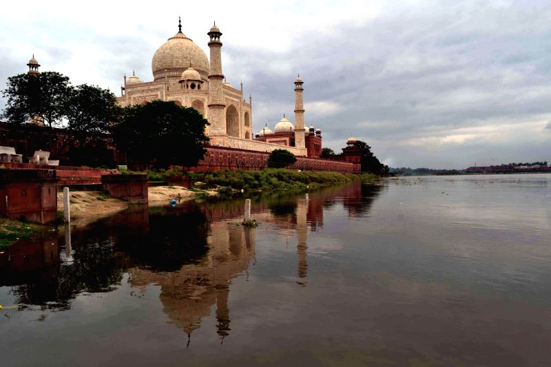 Increased water level of Yamuna in Agra on July 24, 2014.