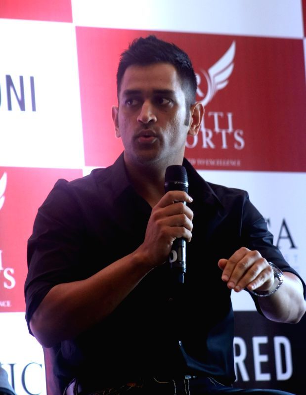 India ODI captain and global brand ambassador of Australia based Secured Venture Capital MS Dhoni during a programme in New Delhi on July 20, 2016. - MS Dhoni