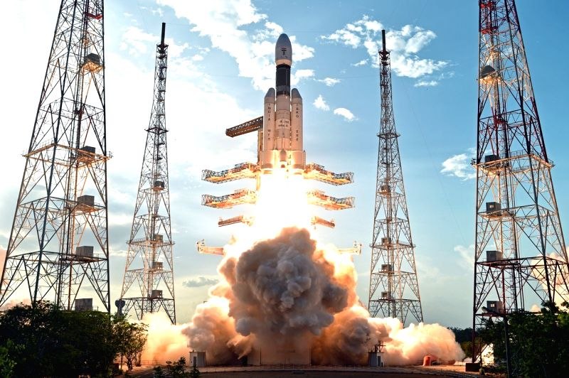 India's brand new and heaviest rocket - the Geosynchronous Satellite Launch Vehicle-Mark III (GSLV-Mk III) - with the 3,136 kg communication satellite GSAT-19 on board blasts off from ...