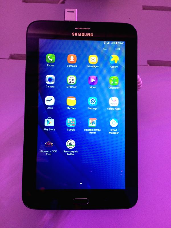 India's first Iris recognition-powered Samsung Galaxy Tab iris can be used for various authentication-related processes like e-KYC, e-Sign and other government services.