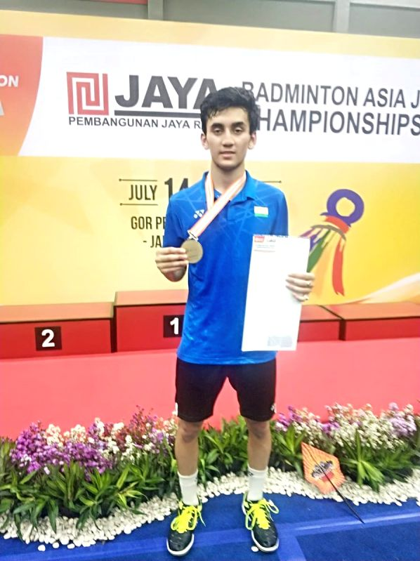 India's Lakshya Sen won the gold medal in the men's singles category of the Badminton Asia Junior Championships.