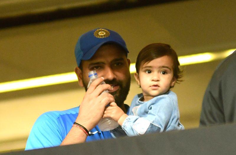 India's Rohit Sharma with his daughter Samaira Sharma. (Photo: IANS)