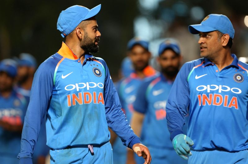 India's Virat Kohli and MS Dhoni. (Photo: Surjeet Yadav/IANS)