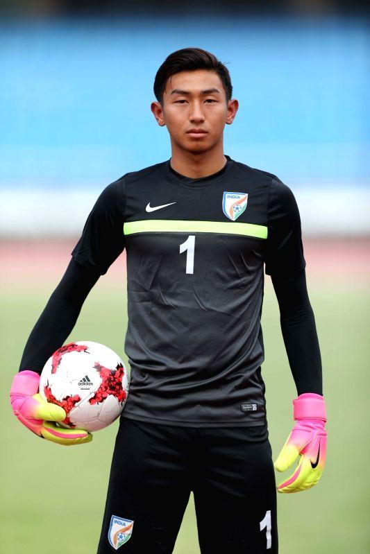 India U-17 football player Dheeraj Singh. (File Photo: IANS)