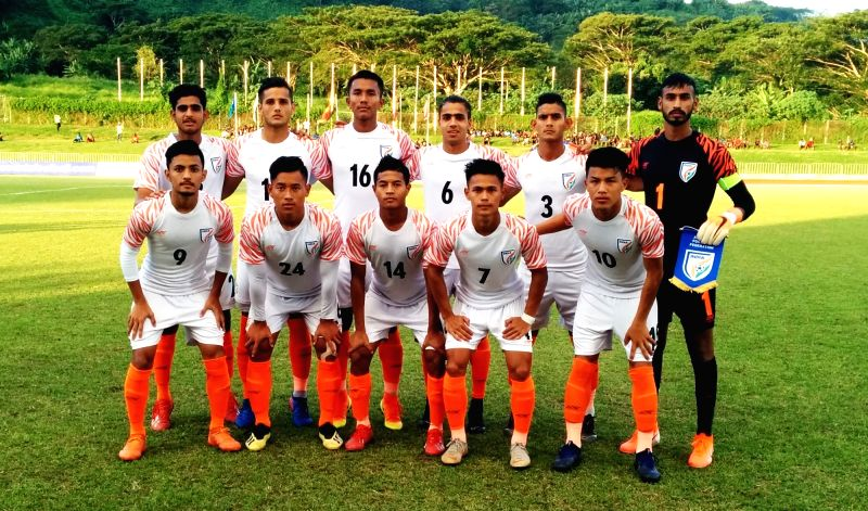 India U19 National Team starting XI v Vanuatu.