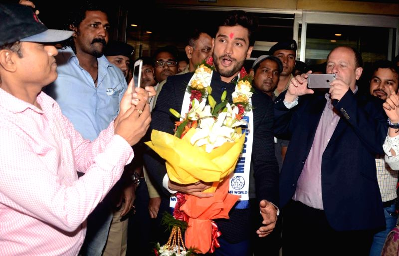 Indian actor and model Rohit Khandelwal has won Mr World 2016 in Mumbai on July 23, 2016. - Rohit Khandelwal
