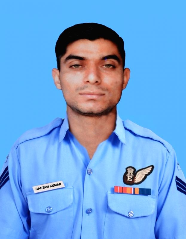 Indian Air Force (IAF) Sergeant Gautam Kumar one of the seven crew members of the Indian Air Force (IAF) helicopter Mi-17 V5 that crashed in Arunachal Pradesh's Tawang on India-China ... - Gautam Kumar