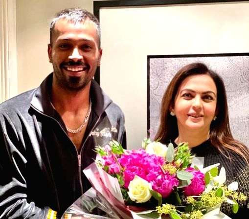 Indian all-rounder Hardik Pandya, who recently underwent a surgery to treat his lower back issue, on Thursday expressed gratitude to Nita Ambani, the chairperson of the Reliance Foundation for visiting him in the UK.