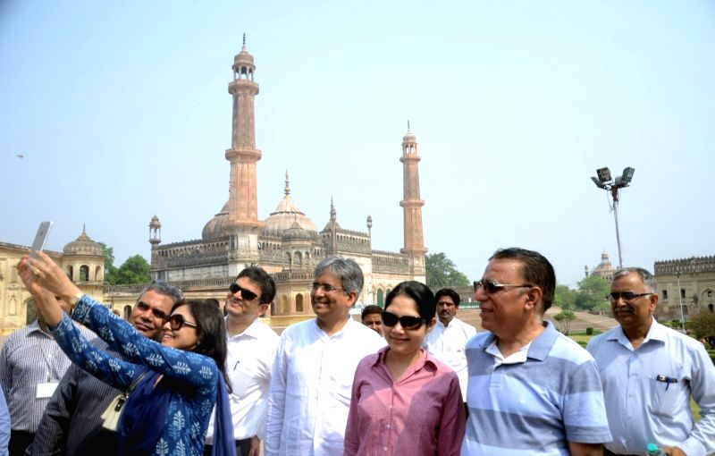 Indian Ambassadors and High Commissioners visit Imambara in Lucknow on June 2, 2016.