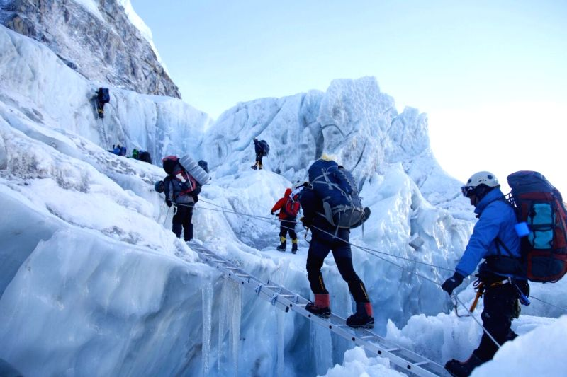 Indian Army Mountaineering Team on its way to Mt Everest and Mount Lhotse. The team scaled Mt. Everest on Thursday.