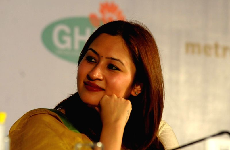 Indian badminton player Jwala Gutta during a programme organised to announce 11th Metropolis World Congress, in New Delhi on Sept 15, 2014.