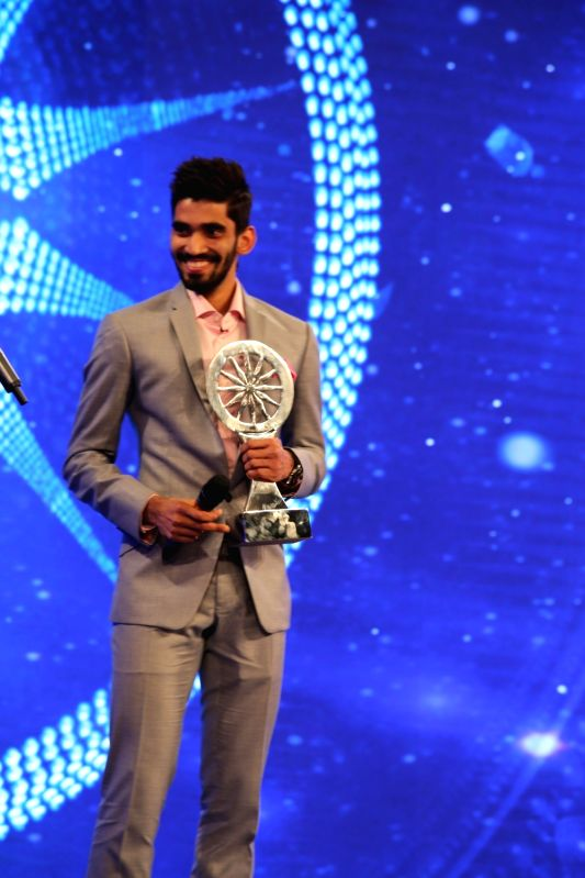 Indian badminton player Kidambi Srikanth during Indian of the Year 2017 award ceremony hosted by CNN News 18 in New Delhi, on Nov 30, 2017. Indian of the Year for Sports 2017 award goes to ...