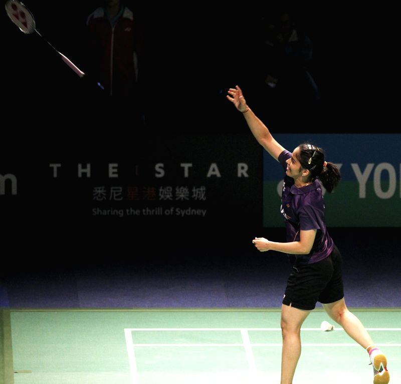 Indian badminton player Saina Nehwal throws her racket towards fans after winning the match against Chinese player Wang Shixian during a match of Australian Open women's singles in Sydney, Australia .