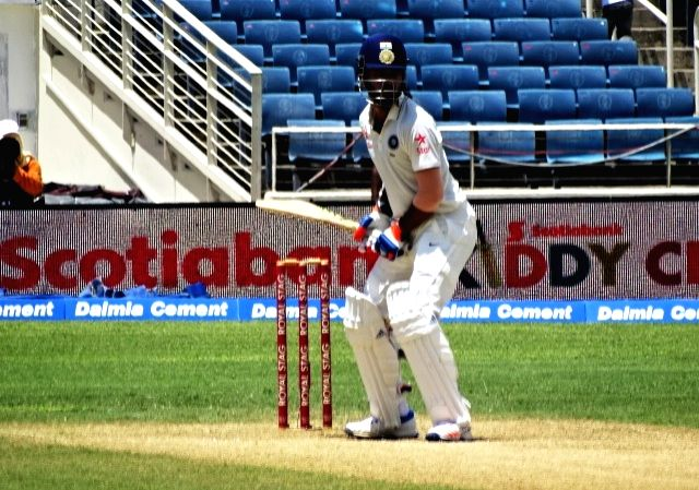Indian batsman Lokesh Rahul in action during the second test match between India and West Indies at Kingston, Jamaica July 31, 2016. - Lokesh Rahul