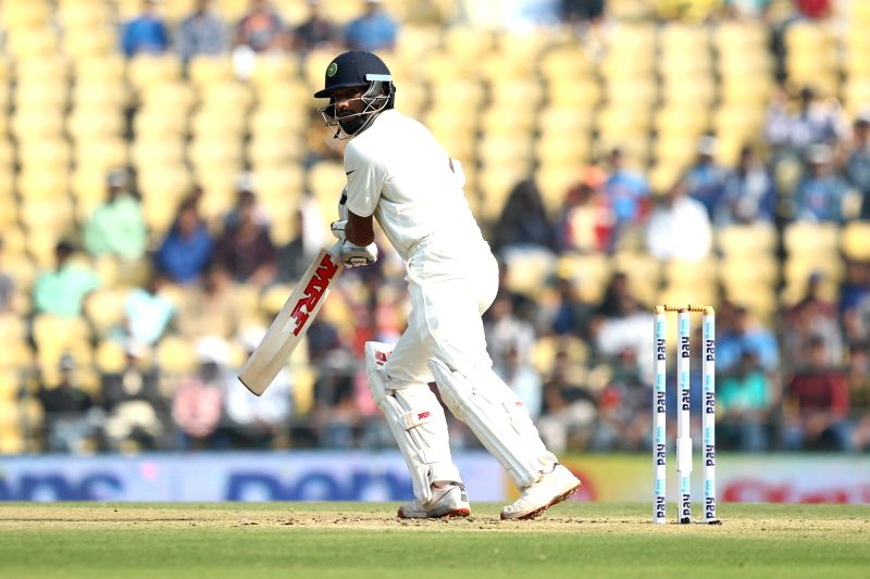 Indian batsman Shikhar Dhawan in action during the Day-1 of the third test match between India and South Africa at Vidarbha Cricket Association Stadium in Nagpur  on Nov 25, 2015. - Shikhar Dhawan
