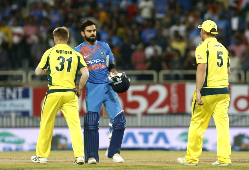 Indian captain Virat Kohli after winning the first T20 match between India and Australia at JSCA International Stadium in Ranchi on Oct 7, 2017. - Virat Kohli