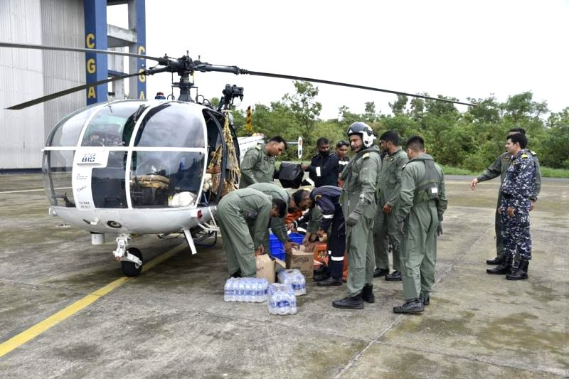 Indian Coast Guard carried out rescue operations in Maharashtra today, along with Army, Navy and Air Force