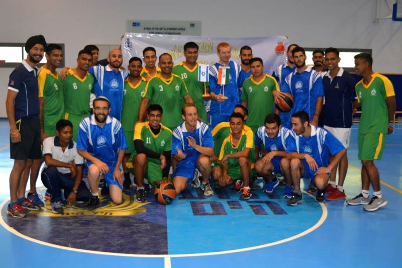 Indian crew at the sports fixtures with Israeli Navy counterparts at Haifa