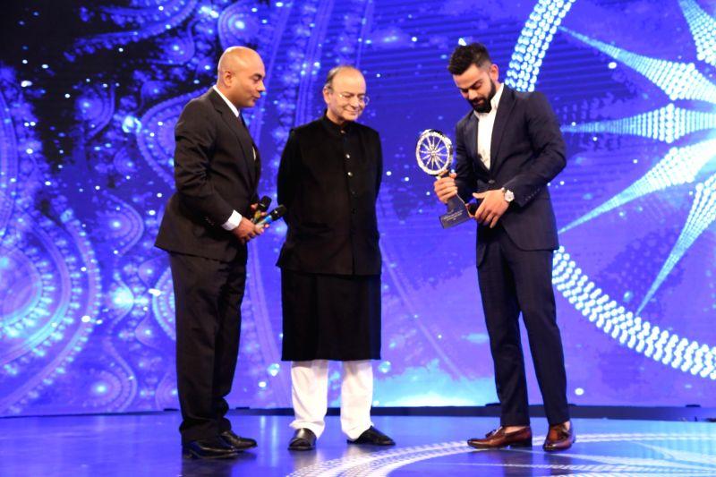 CNN-News18 Indian of the Year - Popular Choice for Indian of the Year - Virat Kohli - Virat Kohli and Arun Jaitley