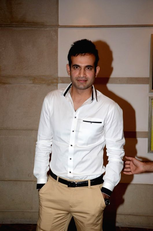 Indian cricketer Irfan Pathan during a cooking competition held by Malaysian Palm Oil Council (MPOC) named Fun, Food Lifestyle in Mumbai, on June 27, 2014.