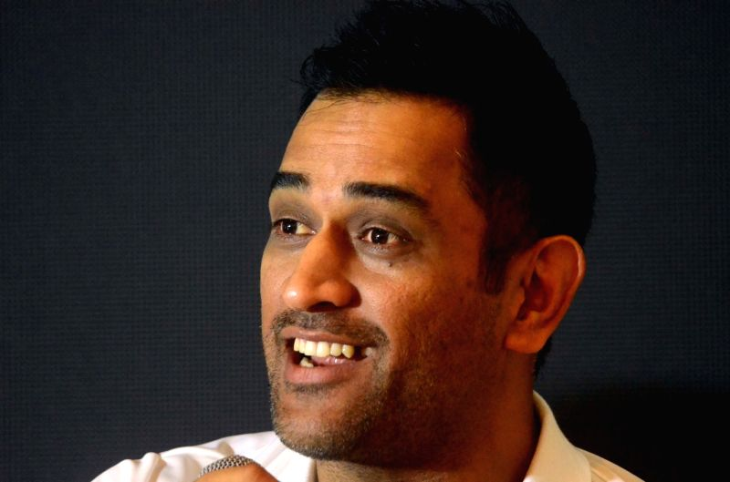 Indian cricketer M.S. Dhoni interacts with the people at the launch of a 360 degree sports tech-ecosystem, in Mumbai, on Aug 7, 2018.