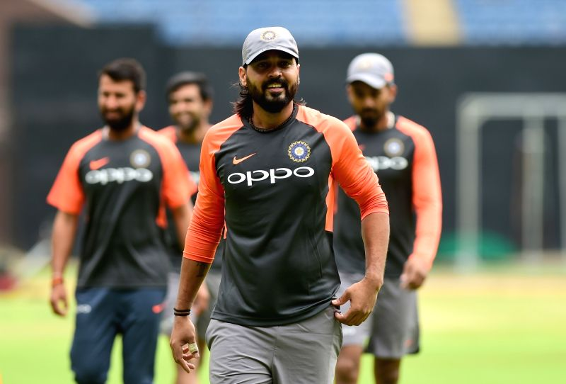 Indian cricketer Murali Vijay during a practice session ahead of their maiden cricket test match against Afghanistan, in Bengaluru on June 11, 2018.