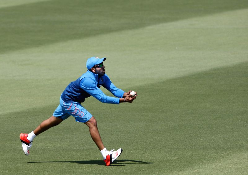 Indian cricketer Rohit Sharma in action during a practice session at Melbourne Cricket Ground (MCG) ahead of an ICC World Cup 2015 match - scheduled to be held on 22nd Feb 2015 - against South ... - Rohit Sharma