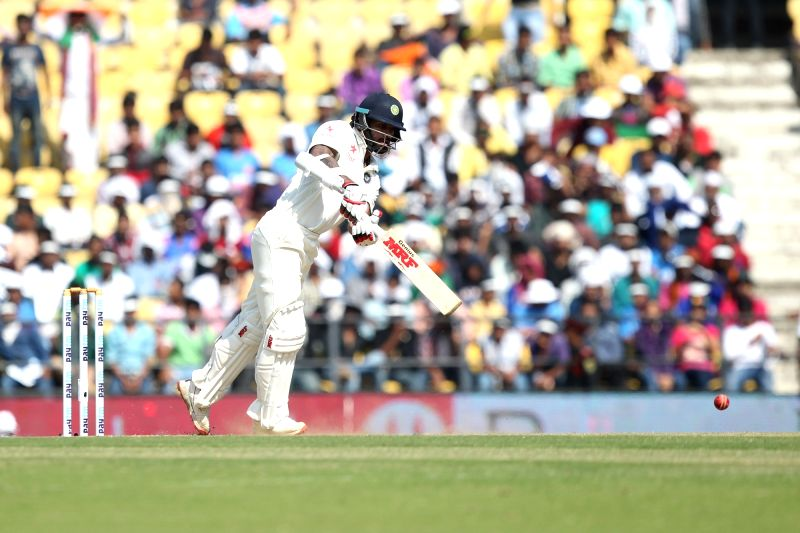 Indian cricketer Shikhar Dhawan in action during the Day-2 of the third test match between India and South Africa at Vidarbha Cricket Association Stadium in Nagpur  on Nov 26, 2015. - Shikhar Dhawan