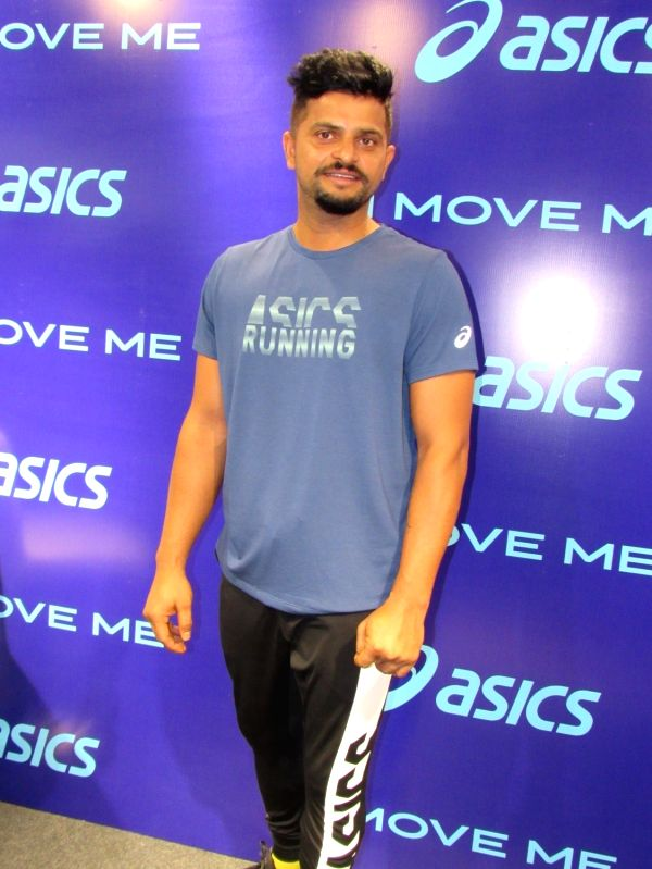 Indian cricketer Suresh Raina at the launch of a footwear range of ASICS, in Gurugram on May 16, 2018.