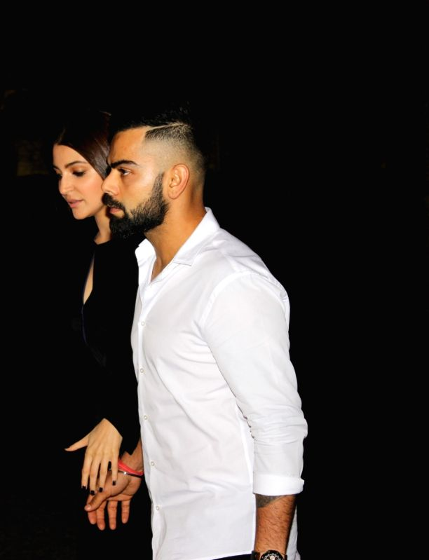 Indian cricketer Virat and actress Anushka Sharma arrived hand-in-hand for the Zaheer and Sagarika`s engagement ceremony, in Mumbai, on May 23, 2017. Anushka was last seen in the film ... - Anushka Sharma