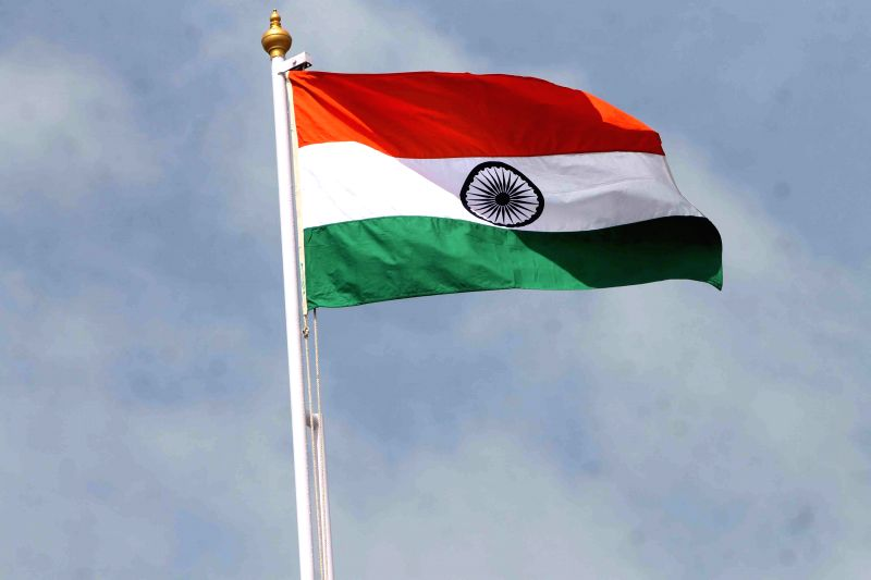 Indian flag flutters at the Golkonda Fort, some 11 km away from Hyderabad on 68th Independence Day on Aug 15, 2014.
