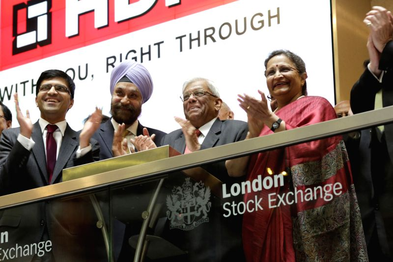 Indian High Commissioner to UK, Navtej Sarna, Parliamentary under-secretary of state in Britain's Foreign and Commonwealth Office Alok Sharma and HDFC Chairman Deepak Parekh launch India's ... - Office Alok Sharma