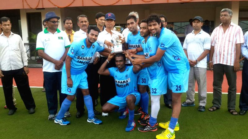 Indian Hockey team registered their third consecutive victory over Bangladesh and clean sweep the three-match series by 3-0 at Dhaka, Bangladesh on Aug. 9, 2014.