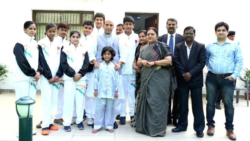 Indian Kung Fu team to represent the country in the 5th World Kung Fu Championship to be played in Moscow, Russia calls on the Union Home Minister Rajnath Singh, in New Delhi on July 20, ... - Rajnath Singh